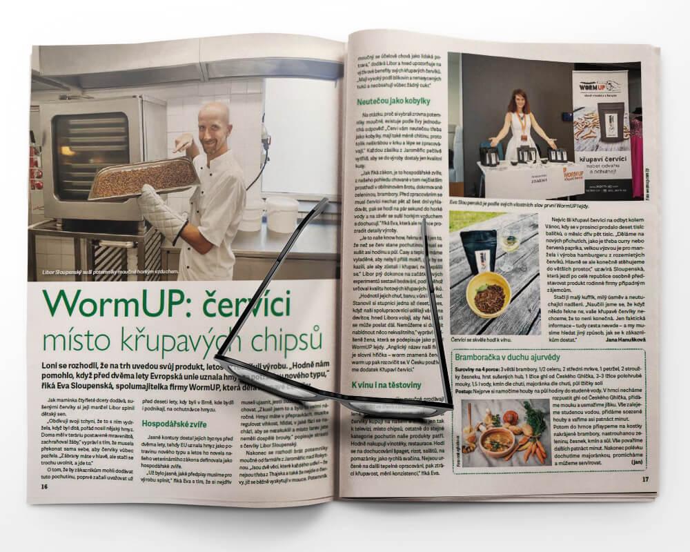 WormUP: červíci místo křupavých chipsů
